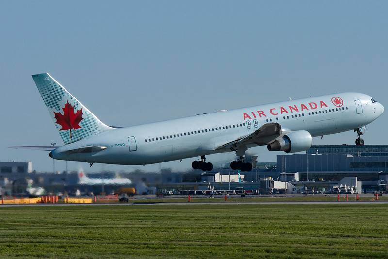 An Air Canada 767 takes off from Montreal.