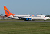 Sunwing 737 arriving at Montreal.