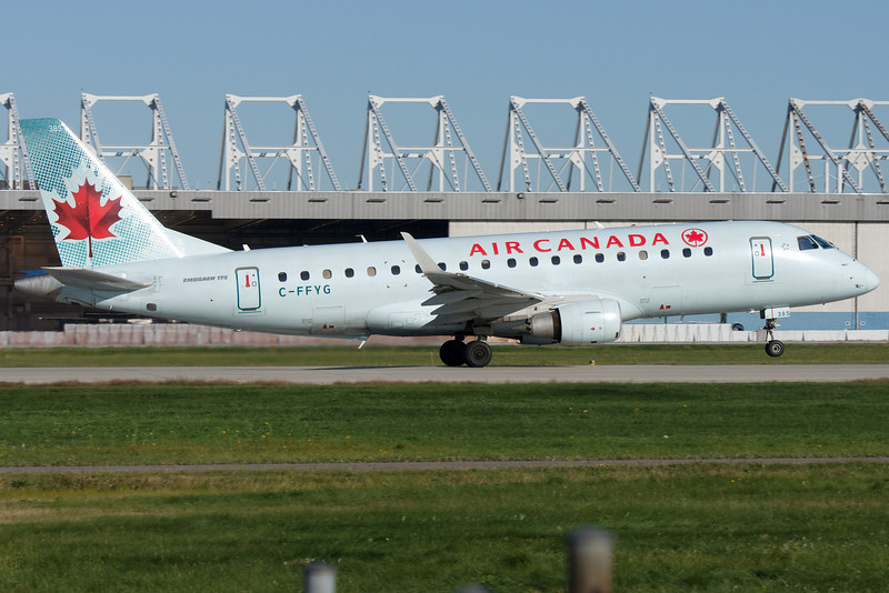 An Air Canada E-175 departing Montreal.
