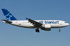 Air Transat Airbus A310-300 on final to 06L at Montreal.