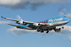 CorsairFly 747-400 on final for 24R.