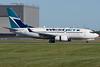 WestJet 737 arriving at Montreal.