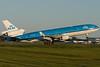 KLM MD-11 Ingrid Bergmann is barrelling down runway 24R at Montreal to take off.