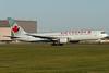 Air Canada 767 rotating from runway 24R at Montreal.