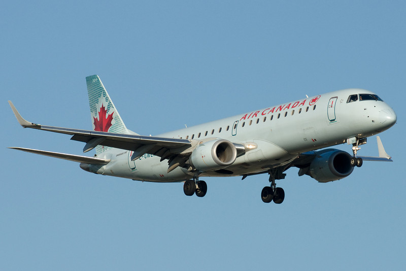 Lots of E-Jets for Air Canada at Montreal.