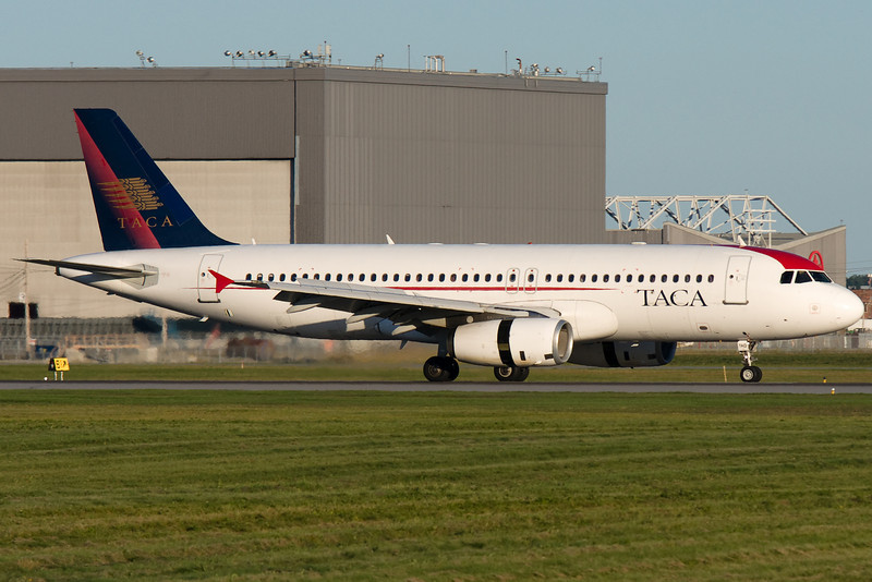TACA A320 has arrived at Montreal.
