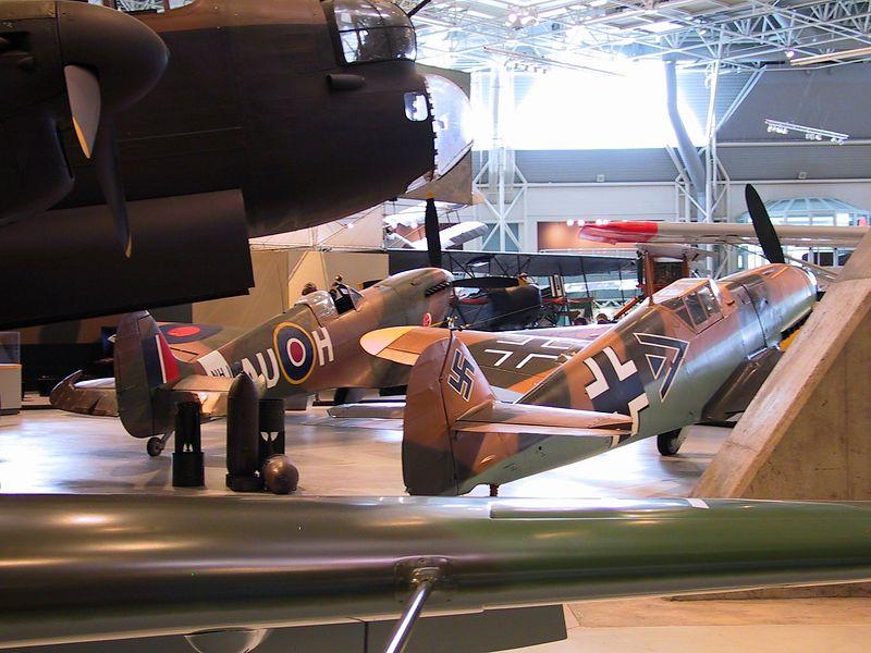 Backsides of Spitfire IX and Messerschmitt Bf109F-4 ---- 1602_CRW_01