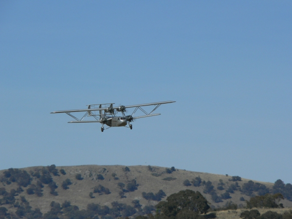 David Balfour's Handley Page Hannibal on approach at Canberra for a low flypast
