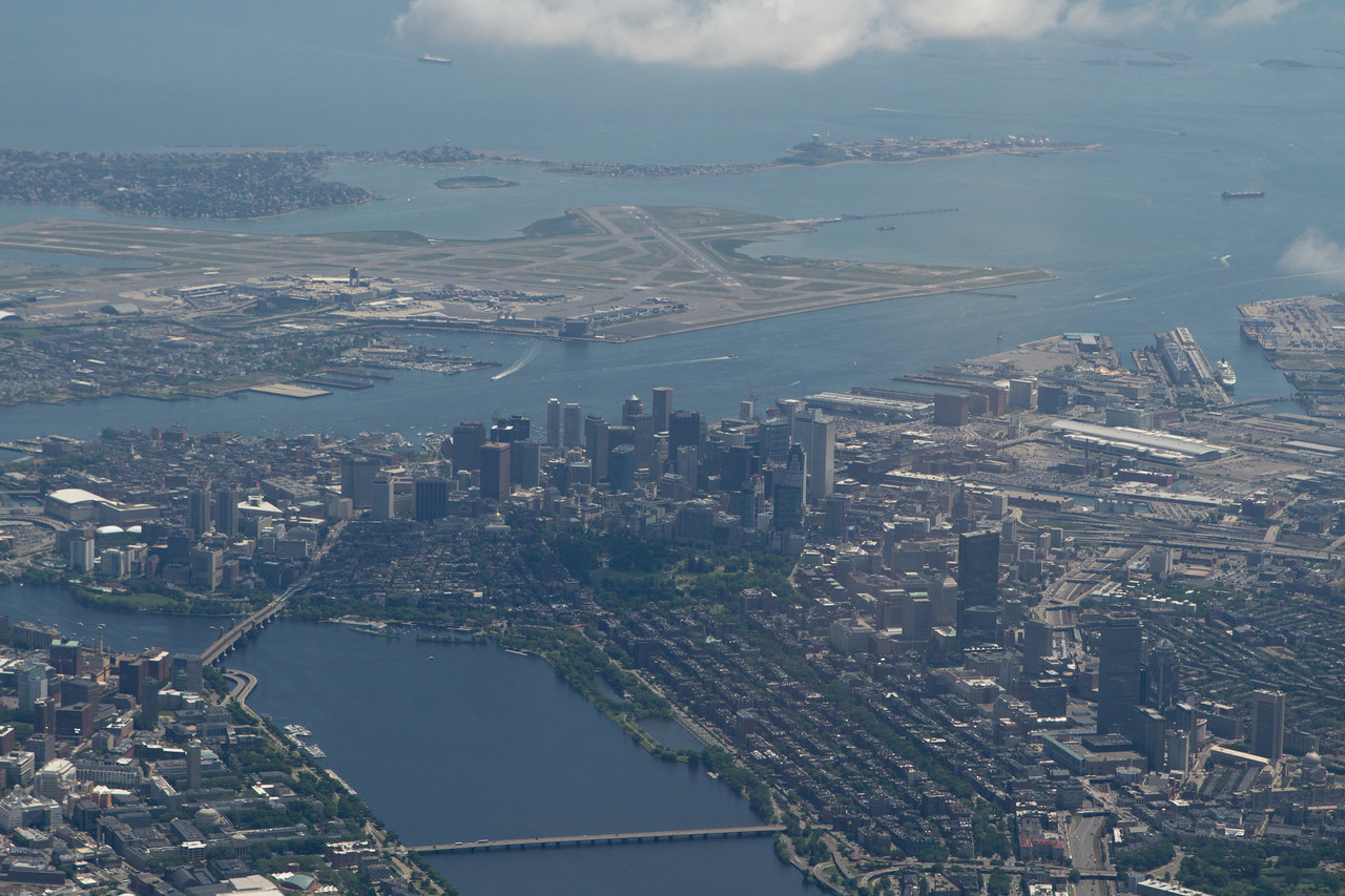 City center and Logan airport.