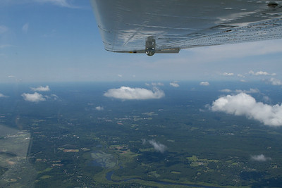 View out to the west from the Boston Bravo airspace at 5500 feet.