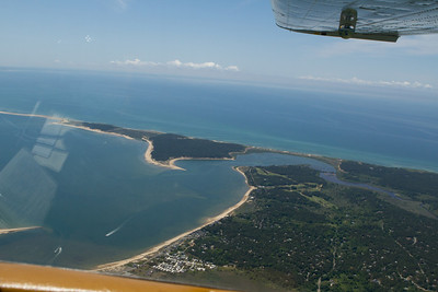 The town of Provincetown is  directly underneath.