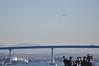 SNB Kansan from afar (note stopped traffic on Coronado Bay Bridge)