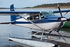Cessna A185F Skywagon C-GEUU at Two Bay docks in Moosonee, Ontario on the Moose River 2010 July 9th.