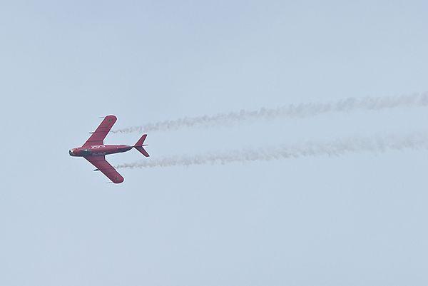 Red Bull MiG-17F<br /> flown by Bill Reesman