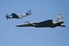 Heritage Flight.  P-51 Mustang and F-15 Eagle.