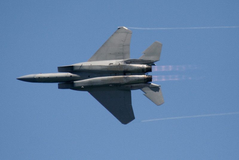 F-15 Eagle with afterburn.