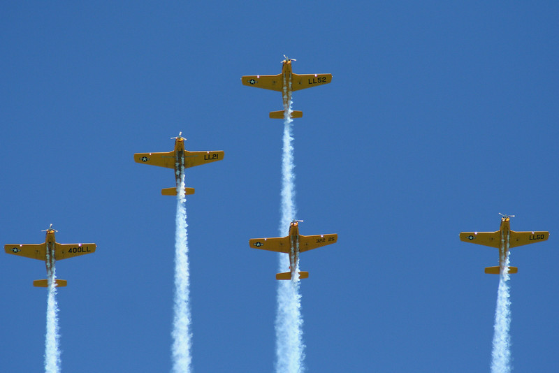 Missing Man Formation.  Lima Lima Flight Team.