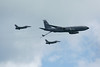 F-16 Falcons with KC-135 Stratotanker Refueler.
