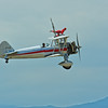 Margi Stivers on the Wing of Their 450 Stearman
