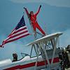 Silver Wings Wingwalking - Hartley Folstad and Margi Stivers in a 450 Stearman Biplane