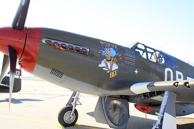 "Nose art on the P-51C ""Boise Bee"" at the 2014 Planes of Fame airshow in Chino, CA."