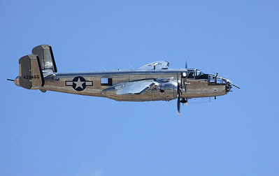 "B-25J Mitchell medium bomber, ""Guardian of Freedom"", in flight."