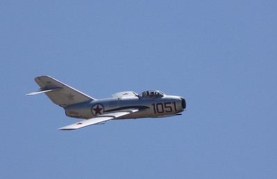 Russian MIG-15 making a flyby.