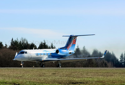 N124DT 1983 Gulfstream III departing Paine Field 02-15-2015