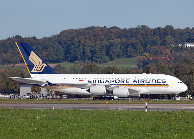 9V-SKN Airbus A380-800 (Zurich) Singapore Airlines