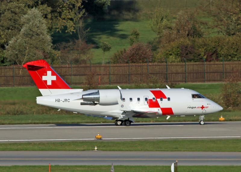 HB-JRC Bombardier CL-600-2B16 (Zurich) Schweizerische Luft-Ambulanz AG