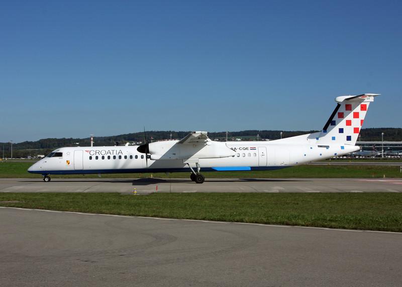 9A-CQE De Havilland Canada DHC-8-402Q Dash 8 (Zurich) Croatia Airlines