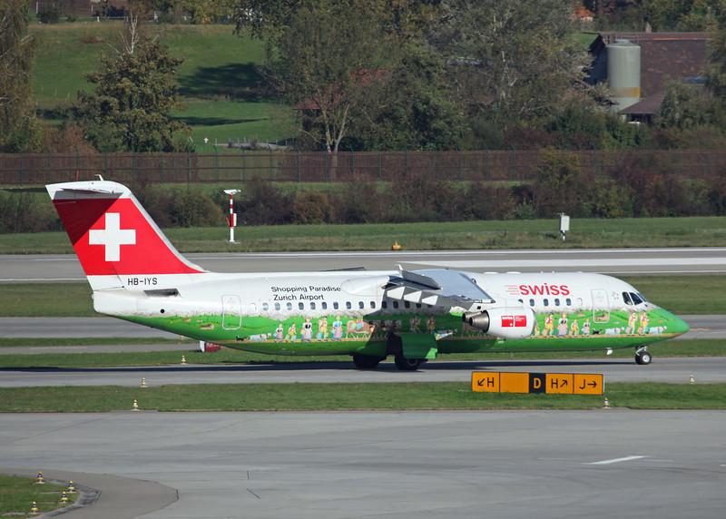 HB-IYS BAe AVRO 146-RJ100 (Zurich) Swiss European Air Lines AG
