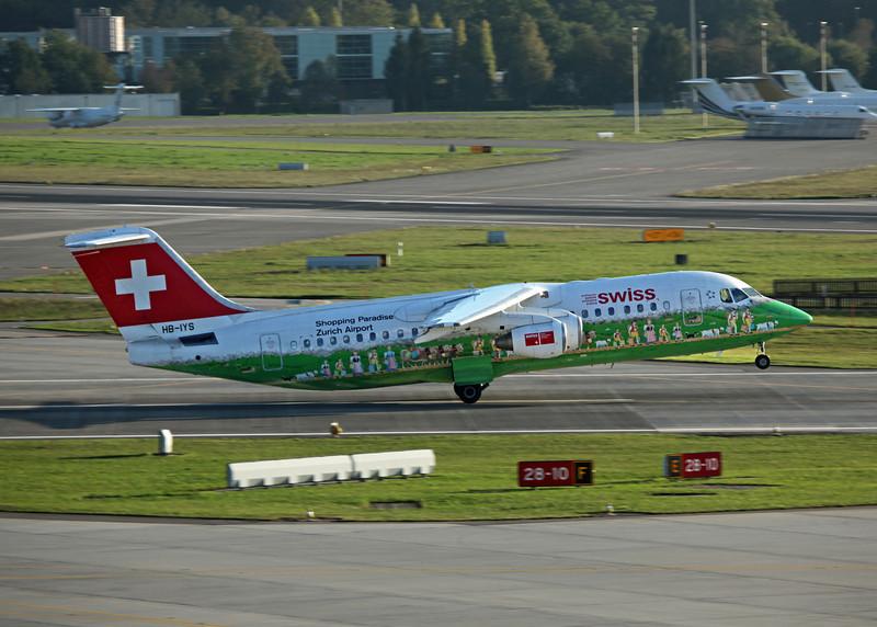 HB-IYS BAe AVRO 146-RJ100 (Zurich) Swiss European Air Lines AG 2