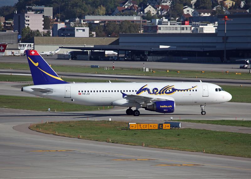 HB-JIZ Airbus A320-214 (Zurich) Hello