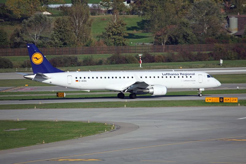 D-AEBA - Embraer ERJ190-200LR (Zurich) Lufthansa Cityline