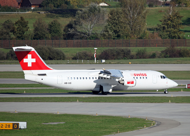 HB-IXS BAe AVRO 146-RJ100 (Zurich) Swiss European Air Lines AG