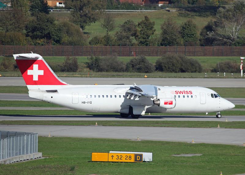 HB-IYQ BAe AVRO 146-RJ100 (Zurich) Swiss European Air Lines AG