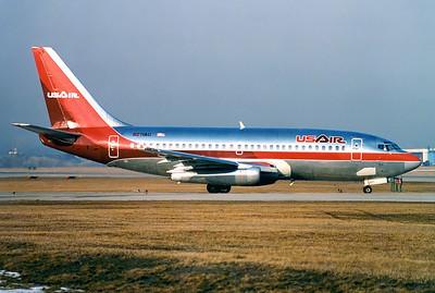USAir Boeing 737-2B7/Adv Toronto - Lester B. Pearson International (Malton) (YYZ / CYYZ) Canada - Ontario, March 1989   Reg: N271AU Cn: 22883/935