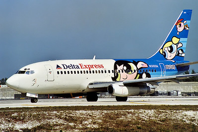 Delta Express Boeing 737-232/Adv Fort Lauderdale - Hollywood International (FLL / KFLL) USA - Florida, January 2001   Reg: N310DA Code: 210 Cn: 23082/1006 Cartoon Network colours