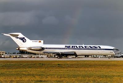 Boeing 727-281/Adv Servivensa REG: YV-843C  Miami - Intl.  (MIA / KMIA) Florida, USA January 1996