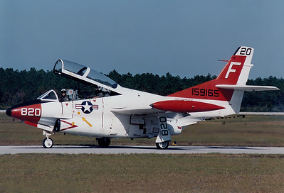 USA - Navy North American Rockwell T-2C Buckeye  	Pensacola - NAS / Forrest Sherman Field (NPA / KNPA) USA - Florida, November 1992 Reg: 159165 Code: F-820 Cn: 367-16