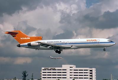 Boeing 727-256/Adv Viasa REG: YV-126C  Miami - Intl. (MIA / KMIA) Florida, USA November 1993