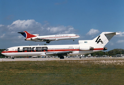 Laker Airways Boeing 727-2J7/Adv  Fort Lauderdale - Hollywood Intl. (FLL / KFLL) USA - Florida, January 1996 Reg: N552NA  Cn: 20706/949