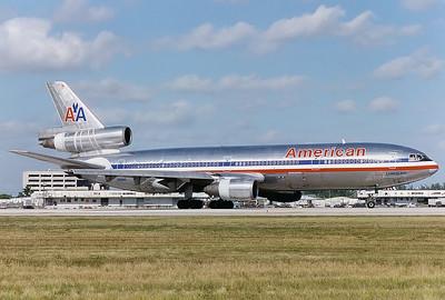American Airlines McDonnell Douglas DC-10-10 Miami - International (Wilcox Field / 36th Street / Pan American Field) (MIA / KMIA) USA - Florida, November 1996 Reg: N168AA Cn: 46938/153 A series -10 DC-10 ready for take off RWY 12 at Miami.