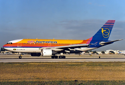"Air Jamaica Airbus A310-324/ET  	Miami - Intl. (Wilcox Field / 36th Street / Pan American Field) (MIA / KMIA) USA - Florida, January 1999 Reg: N840AB  Cn: 682 ""Spirit of Mandeville"""