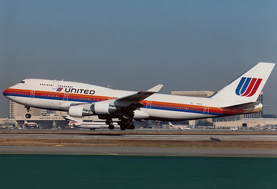 Boeing 747-422 United Airlines   N180UA  Los Angeles - Intl. (LAX / KLAX) California, USA October 1991