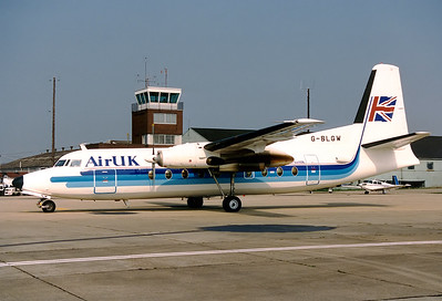 Air UK Fokker F-27-200 Friendship 	Southampton - Eastleigh (SOU / EGHI) UK - England, April 1988 Reg: G-BLGW Cn: 10231