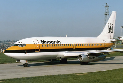 Monarch Airlines Boeing 737-2K9/Adv Lonndon - Luton (LTN / EGGW) UK - England, August 1987 Reg: G-DFUB Cn: 22415/702