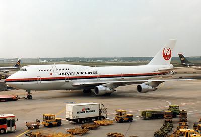 Boeing 747-346 Japan Air Lines - JAL REG: N213JL  Frankfurt am Main (Rhein-Main AB) (FRA / EDDF) Germany May 1986