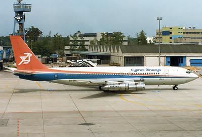 Cyprus Airways REG: 5B-DAP Boeing 707-123(B) MSN: 17635 Frankfurt am Main (Rhein-Main AB) (FRA / EDDF) Germany - May 8, 1981